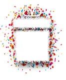 Confetti gift celebration background. Stock Image