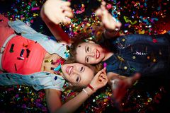 Confetti girls Royalty Free Stock Photography