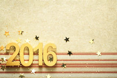 2016 with confetti Royalty Free Stock Images