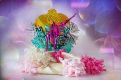 Happy New Year Celebration stock photo