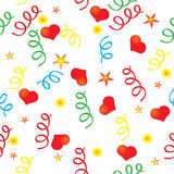 Confetti and the heart. Vector available, background seamless Royalty Free Stock Image