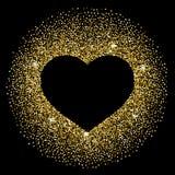Confetti heart frame round Stock Photos
