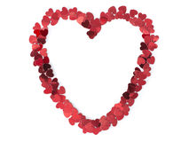 Confetti heart frame Royalty Free Stock Images