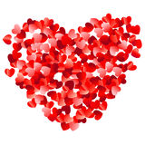 Confetti hearts Stock Images