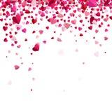 Confetti of hearts Royalty Free Stock Image