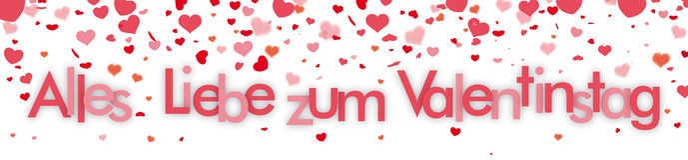 Confetti Hearts Header Valentinstag Royalty Free Stock Photo