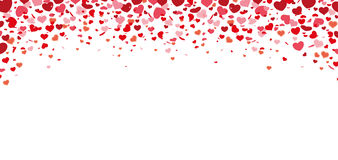 Confetti Hearts Long Card Royalty Free Stock Images