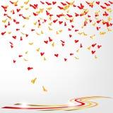 Confetti of hearts Stock Photos