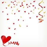 Confetti hearts Royalty Free Stock Photos