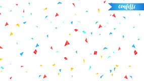 Confetti. Holiday shiny confetti isolated on white background. Colorful confetti Royalty Free Stock Images