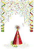Confetti i karnawał dekoracja Obrazy Royalty Free