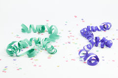 Confetti i streamers Zdjęcia Royalty Free