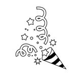 Confetti ikony charakter 03 royalty ilustracja