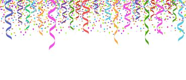 Confetti isolated header card background Royalty Free Stock Photography