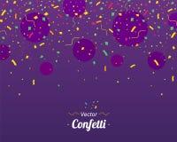 confetti Kleurrijke confettienstukken royalty-vrije illustratie