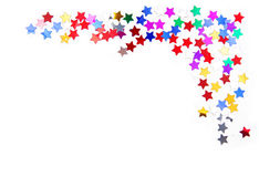 Confetti kolorowa rama Obrazy Royalty Free