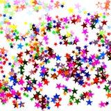 confetti kształtująca gwiazda fotografia stock