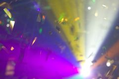 Confetti in lights Stock Photo