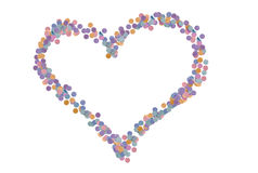 Confetti love Royalty Free Stock Photos