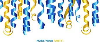 confetti Maak uw partij royalty-vrije illustratie