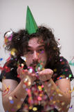 Confetti man on party Stock Photo