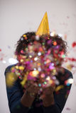 Confetti man on party Stock Image