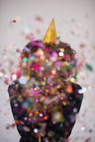 Confetti man on party Royalty Free Stock Images