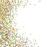 Confetti many colorful pieces, vector illustration isolated on white background.  Stock Images