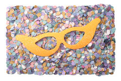 Confetti and mask Royalty Free Stock Images