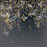 Confetti, New Year`s Celebration Vector Background
