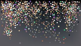 Confetti, New Year`s celebration - vector background banner stock illustration