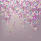 Confetti, New Year's celebration - vector background Stock Photography