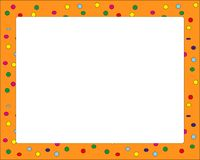 Confetti orange frame for carnival royalty free illustration