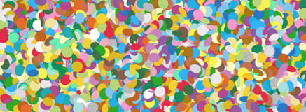 Confetti Panorama Background Template Texture Stock Image
