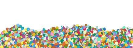 Confetti panoramy tła szablon z Bezpłatnego teksta przestrzenią Zdjęcia Stock