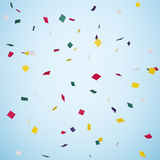 Confetti. Paper snowfall made in coloful paper Royalty Free Stock Image