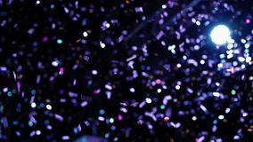 Confetti at the party. At nightclub stock footage