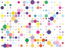 Confetti pattern. Colorful dotted background with circles, dots, point different size, scale. Design element for web banners, posters, cards, wallpapers, sites stock illustration