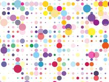 Confetti pattern. Colorful dotted background with circles, dots, point different size, scale. Design element for web banners, posters, cards, wallpapers, sites vector illustration
