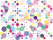 Confetti pattern. Colorful dotted background with circles, dots, point different size, scale. Design element for web banners, posters, cards, wallpapers, sites royalty free illustration