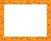 Confetti pomarańcze rama dla karnawału royalty ilustracja