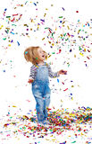 Confetti rain Royalty Free Stock Photo