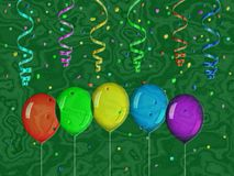 Confetti relief painting on generated marble texture background Royalty Free Stock Photos