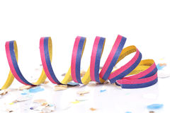 Confetti and ribbons Stock Photography