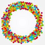 confetti Rond kader van gekleurde cirkels Vector illustratie royalty-vrije illustratie