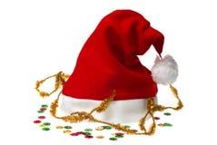 confetti santa изолированный шлемом Стоковые Фотографии RF