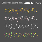 Confetti scatter brushes saved in panel. Ready for use. Stock Images