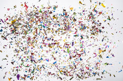 Confetti scattered royalty free stock image