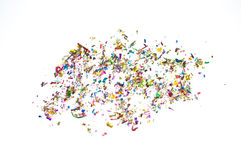 Confetti scattered royalty free stock photo