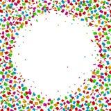 Confetti seamless bright round frame colorful for celebration. Illustration of Confetti seamless bright round frame colorful for celebration Stock Photography